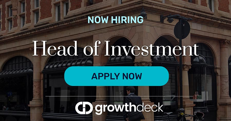 Growthdeck: Join the Team – Now Recruiting for a Head of Investment