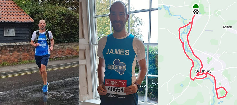 Growthdeck: James Wrighton Runs the 40th London Marathon for MK Snap