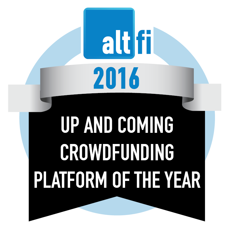 Altfi awards - Up & Coming Crowdfunding Platform 2016
